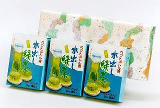 こだわり焙煎水出し緑茶7gx15袋x3箱セット包装(箱デザインが変わる場合があります)