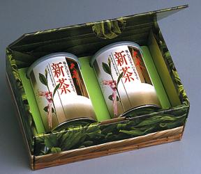 ヤブ北おおはしり新茶 100g缶x2本詰合(化粧箱入)(包装デザインが変わる場合があります)