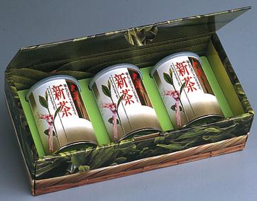 ヤブ北おおはしり新茶 100g缶x3本詰合せ(化粧入)(包装デザインが変わる場合があります)