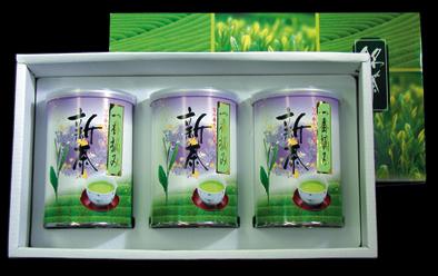 ヤブ北一番摘み新茶 100g缶x3本詰合((化粧箱入)(包装デザインが変わる場合があります)